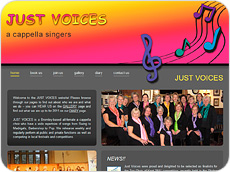 Website design for Just Voices